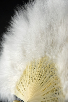 Feather Fans White Marabou 20""