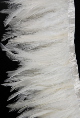 "Feather Trims White 5"" x 72"" long"