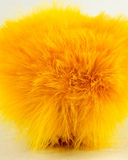 "Feathers Marabou Feathers Yellow (4-5"" tall x 40"" long)"