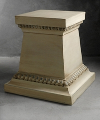 Fiberglass Square Pedestal Cream 18in