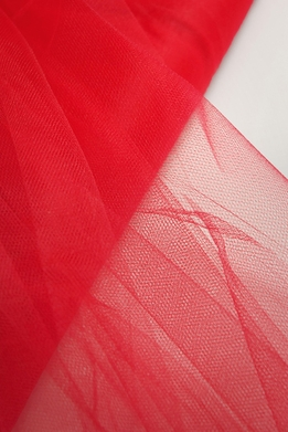"Fine Tulle Bolt Red 54"" wide 40 yards"