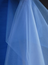 "Fine Tulle Bolt Smoke Blue/ Horizon Blue 54"" wide 40 yards"