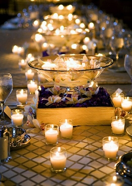 Floating  candle and floating flower bowls