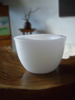 "Floating Candleholders Reusable 3"" White"