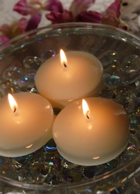 Floating Tea Lights Ivory 3in (Pack of 12)