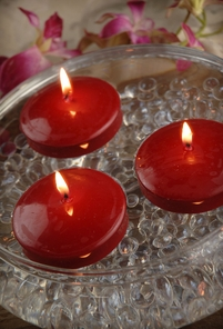 "Floating Candles Red 3"" (12 candles)"