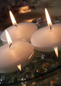 White Floating Candles 2.8in