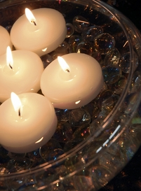 White Floating Candles 2.25in (Pack of 6)