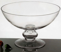 "Floating Flower Bowls 12"" Clear Glass"