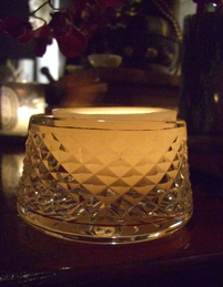 "Floating Reusable wax luminaries 3"" Butterscotch"