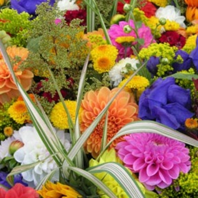 Flower Arranging with Fresh Flowers