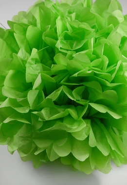 "Tissue Paper Pom Poms 16"" Lime Green (Pack of 4)"