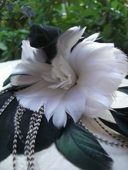 Flower Couture Black & White Flowers Coque & Pheasant