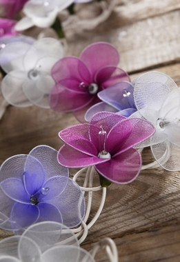 Flower String Lights | Purple