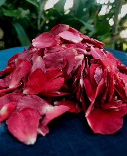Freeze Dried Soft Red Rose Petals (5 cups/pkg)