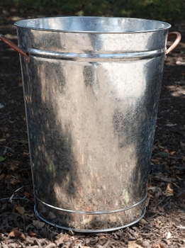 Galvanized Flower Market Bucket with Copper Handles