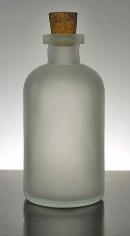 Frosted Glass Apothecary Bottle with Cork Top 8 oz