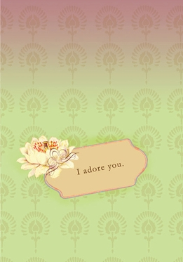 Gift Card Papaya - I Adore You- Blank inside
