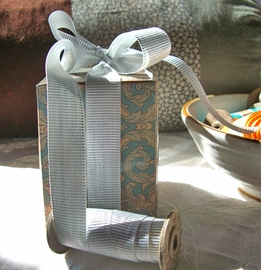Gift Wrapping - Eco Fill  paper shred , excelsior, boxes, wrapping paper,  raffia
