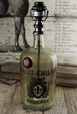 Glass Bottle Lamp Saint Emilion Girdonde