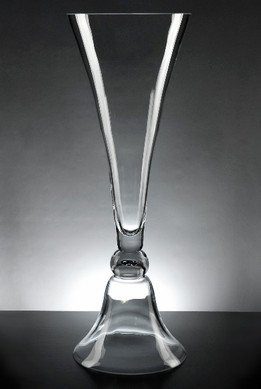 Glass Clarinet Vase