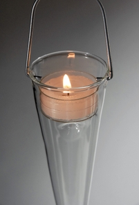 Glass Cone Hanging Candle or Flower Holder (6 holders)