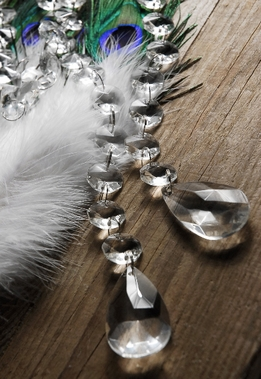 Glass Crystal Garland with Teardrop Crystals
