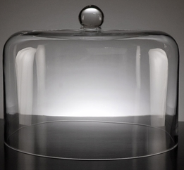 Glass Dome Cake & Cheese Cloche Cover 12.5x10