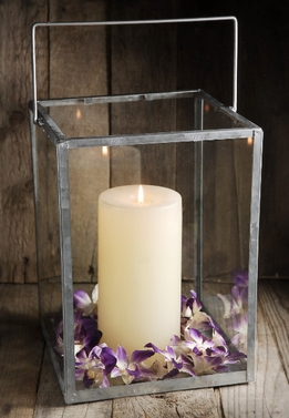 Glass Lantern 9x12 Candle Holder