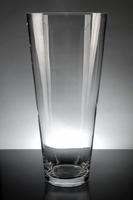 Tapered Glass Cylinder Vase 12.5 in.