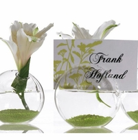 Glass Vase Place Card Holders (Set of 8)