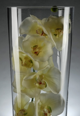 "Glass Vases 18"" Tall Cylinder"