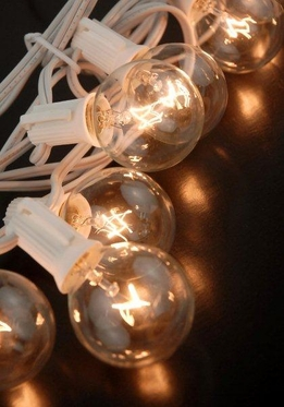 Globe Light String White Wire 13.5 Ft