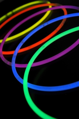 Glow necklace and bracelets