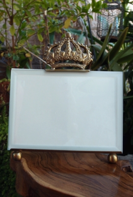 Gold Crown Glass Photo Frame Easel