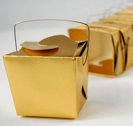 Gold Metallic 8oz Noodle Boxes