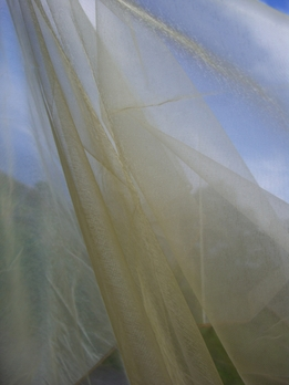 "Gold Organza Fabric with Finished Edges 54"" x 3 yds"