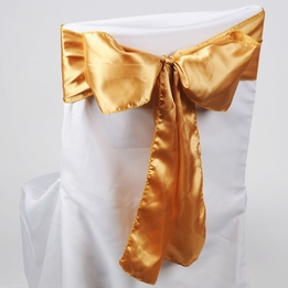 Gold Satin Chair Sashes (Pack of 10)