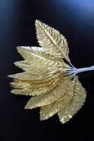 Gold Silk Corsage Leaves