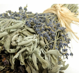 Gourmet Kitchen Herbal Braid lavender, sage, oregano & marjoram (organic-air dried)