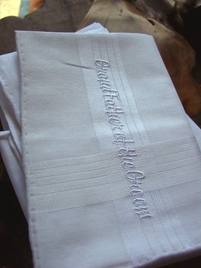 GRANDFATHER OF THE GROOM Wedding Hankies Embroidered