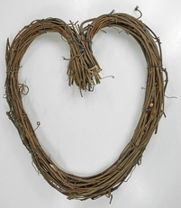 "Grapevine Wreaths 14"" Heart Wreath"