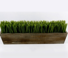 Faux Grass Centerpiece 24in