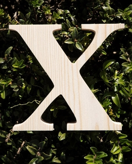 "Greek Letters Chi Pine Wood 3/4"" thick 5.25"" tall"