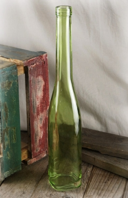 Long Neck Green Glass Bottle