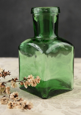 Green Tinted Glass Bottle