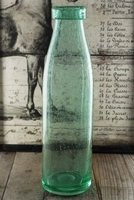 Green Vintage Milk Bottle