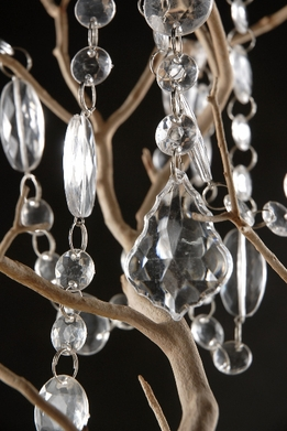 "Hand Strung 63"" Teardrop Crystal Wedding Tree Garland"