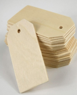 "Hang Tags Wood 3.25"" (25 tags /pkg)"