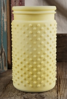 Pastel Yellow Hobnail Jar Vase
